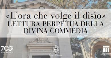Lettura perpetua di un canto della Divina Commedia, in diretta ogni giorno dalla Tomba di Dante Alighieri